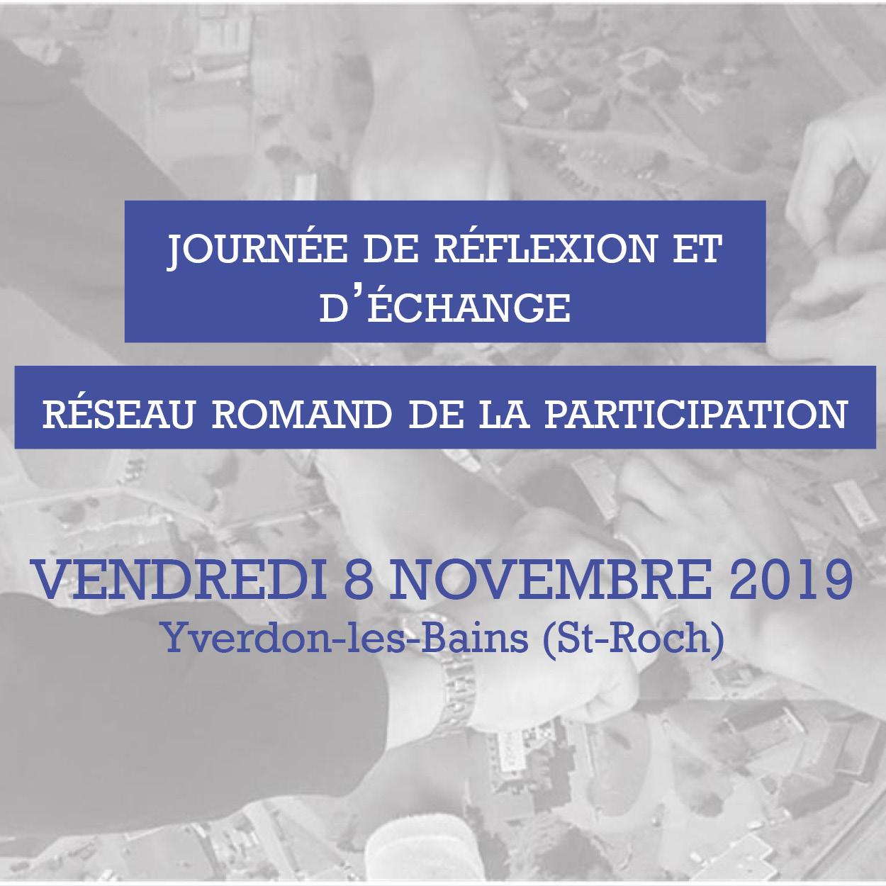Journée de réflexion et d'échange du 8 novembre 2019 (Yverdon-les-Bains)